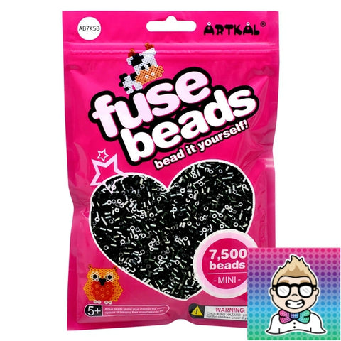 Artkal Beads - Soft - A02 - 7500 - Black