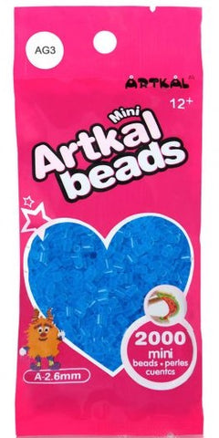 Artkal Beads - Soft - AG3 - Glow-in-the-Dark Blue