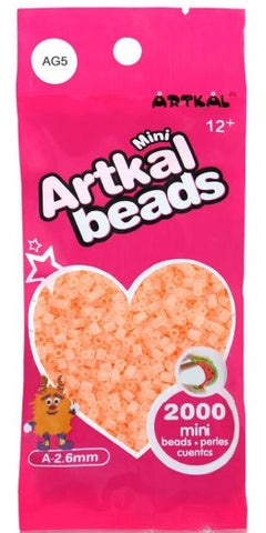 Artkal Beads - Soft - AG5 - Glow-in-the-Dark Peach
