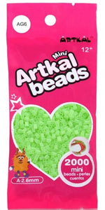 Artkal Beads - Soft - AG6 - Glow-in-the-Dark Green