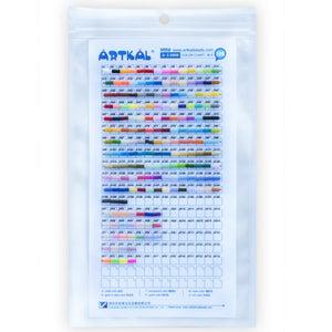 Artkal Beads - A-Series Color Chart - 2.6mm Mini - By Number