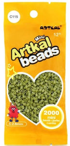 Artkal Beads - Hard - C115 - Earth Green