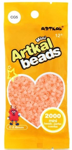 Artkal Beads - Hard - CG5 - Glow-in-the-Dark Peach