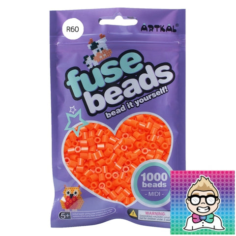 Artkal Beads - Soft - R60 - Blaze Orange