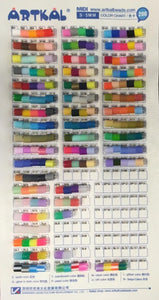 Artkal Beads - S-Series Color Chart - 5mm Midi - By Numbers