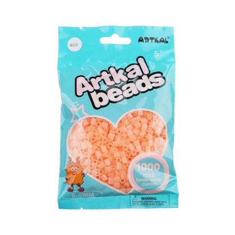 Artkal Beads - Hard - SG5 - Glow-in-the-Dark Peach