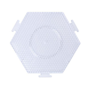 Artkal - Large Hexagon Connect Pegboard - 5mm Midi - Clear