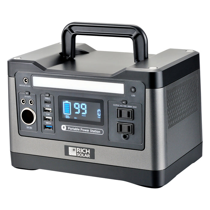 X500 LITHIUM PORTABLE POWER STATION - RICH SOLAR