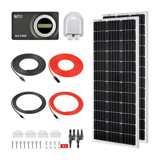200 WATT RV SOLAR KIT - RICH SOLAR