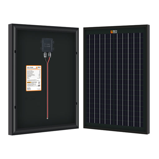 20 WATT SOLAR PANEL BLACK - RICH SOLAR