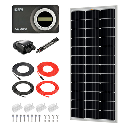 100 WATT RV SOLAR KIT - RICH SOLAR