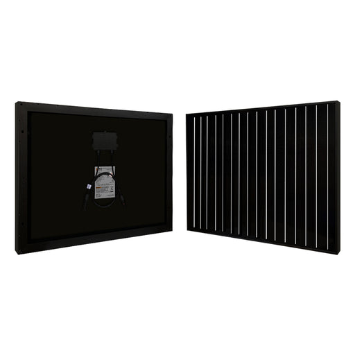 RICH SOLAR 50 Watt 12 Volt Monocrystalline All Black Solar Panel