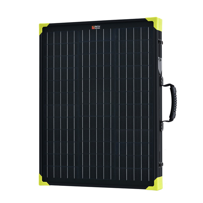100 WATT PORTABLE SOLAR PANEL BRIEFCASE WITH CONTROLLER - RICH SOLAR