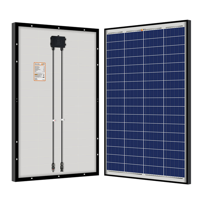 100 WATT POLY SOLAR PANEL BLACK FRAME - RICH SOLAR