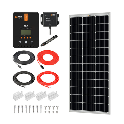 100 WATT SOLAR KIT WITH 40A MPPT CONTROLLER - RICH SOLAR