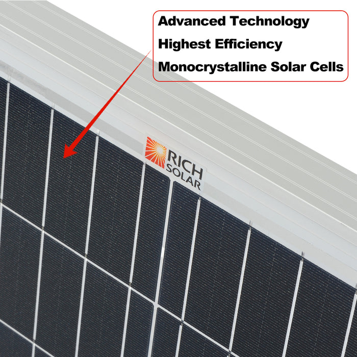 200 WATT 24 VOLT SOLAR PANEL - RICH SOLAR