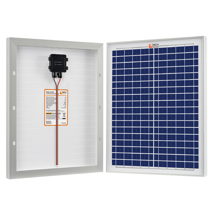 20 WATT SOLAR PANEL POLY - RICH SOLAR