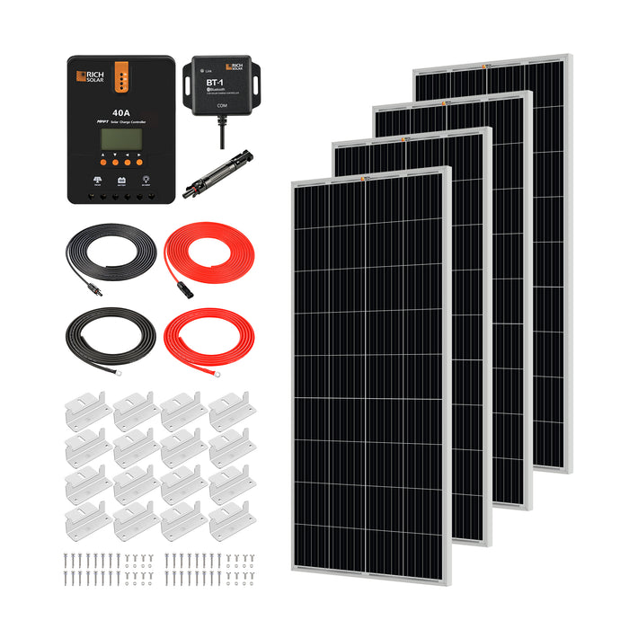 800 WATT SOLAR KIT WITH 40A MPPT CONTROLLER - RICH SOLAR