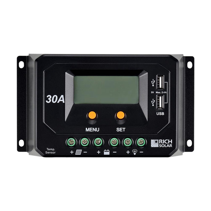 30 AMP SOLAR CHARGE CONTROLLER - RICH SOLAR