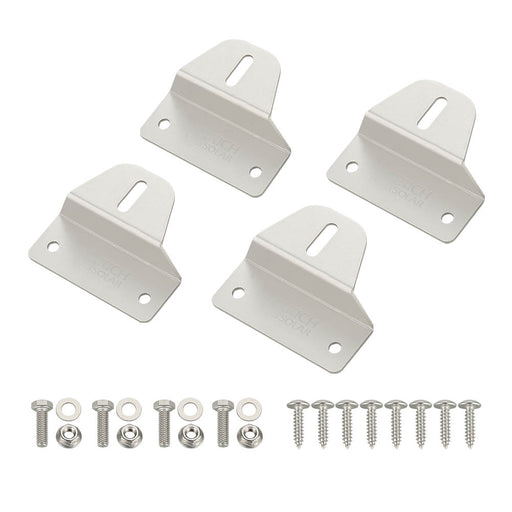 RICH SOLAR Solar Panel Mounting Hardware Z Brackets ZB4A Set of 4 - RICH SOLAR