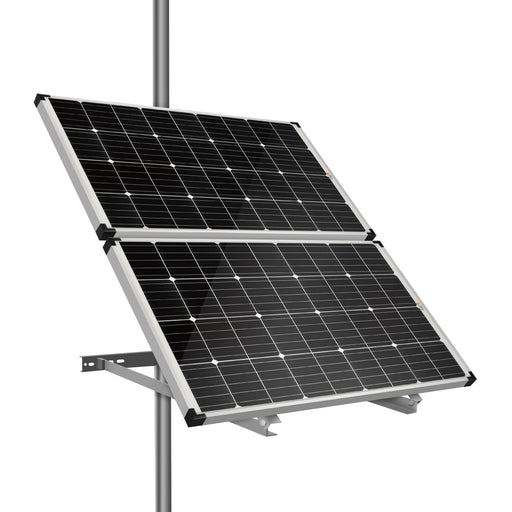 SIDE POLE MOUNTS FOR TWO PANELS - RICH SOLAR