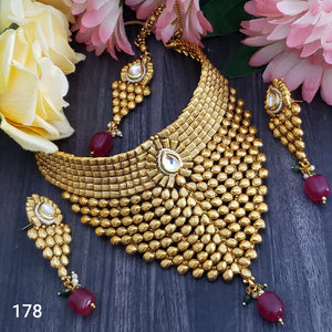 Grab this beautiful premium high gold plated necklace set