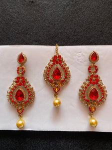 Earrings and Forehead Jewellery