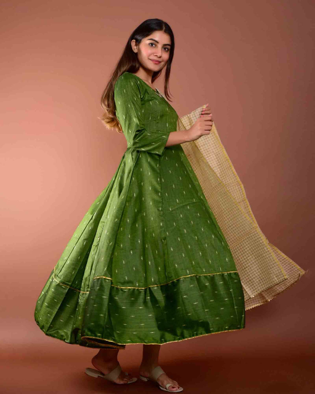 GREEN GOWN WITH DUPATTA
