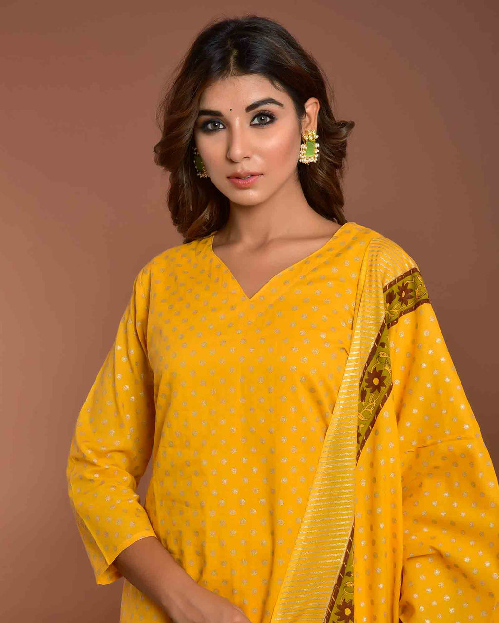 MUSTARD LONG WITH DUPATTA