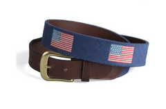 American Flag Needlepoint Belt