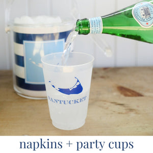 nantucket party cups and nantucket napkins