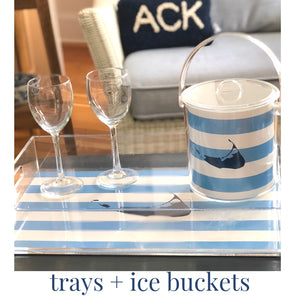 Lucite Trays and Icebuckets