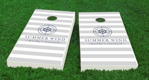 Coastal Personalized Cornhole Boards -various colors