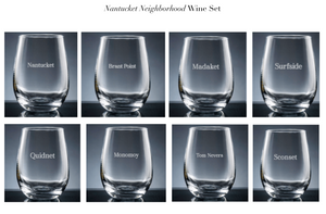 NANTUCKET wine glass- ACK neighborhoods The Nantucket Collection