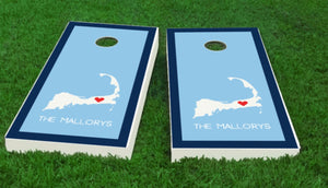 Personalized Cape Cod Cornhole Board