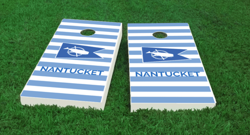 Nantucket Flag Cornhole Board Set The Nantucket Collection