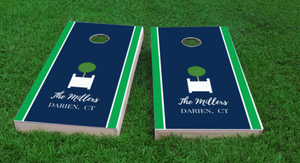 Personalized Topiary Cornhole Board Set