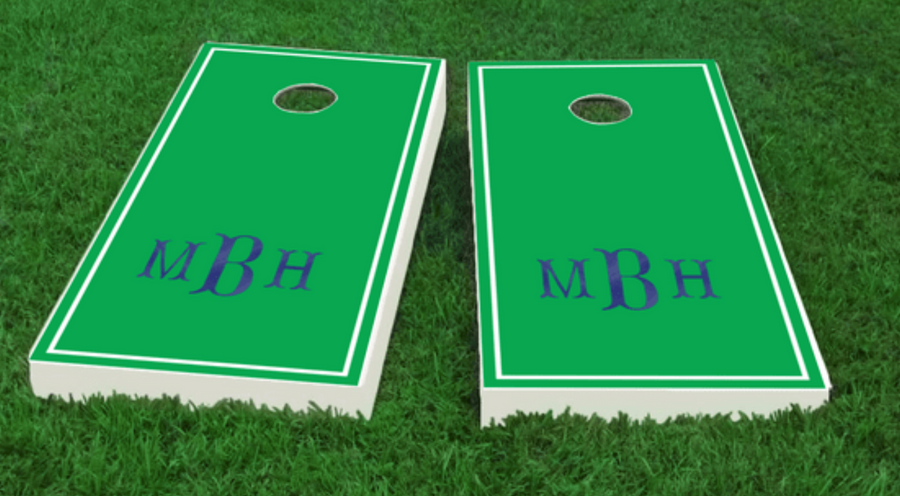 Fishtail Monogram Cornhole Board Set