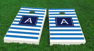 Initial Striped Cornhole Board Set-Many colors available