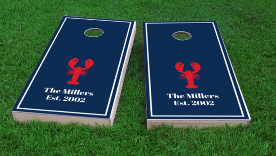 Custom Lobster Cornhole Board Set