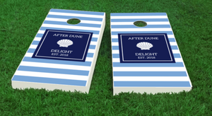 Shell Cornhole Boards -personalized