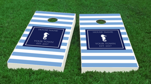 Sea Horse Cornhole Boards -personalized
