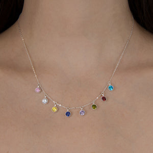 Narrow Birthstone Necklace