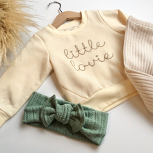 Load image into Gallery viewer, Little Lovie Embroidered Sweatshirt