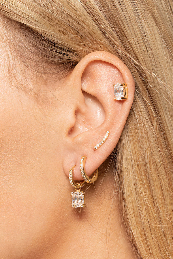 PAVÉ BAR EARRINGS