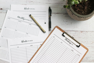 Printable Reading Log & Goal-setting Worksheets | Pretty Nerdy Press