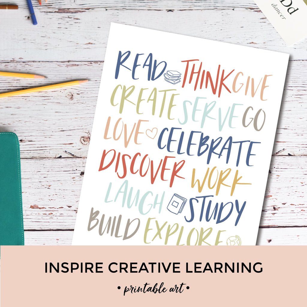 Free Printable: Inspire Creative Learning | Pretty Nerdy Press
