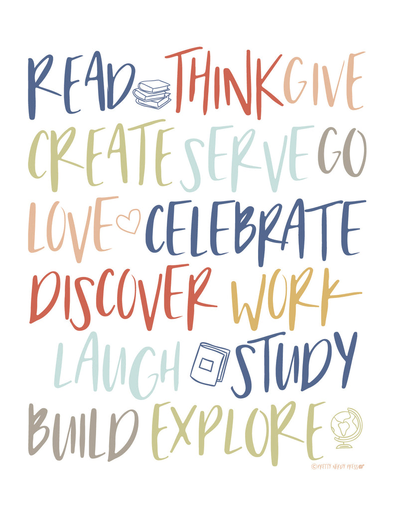 Inspire Creative Learning | Free Printable | Pretty Nerdy Press