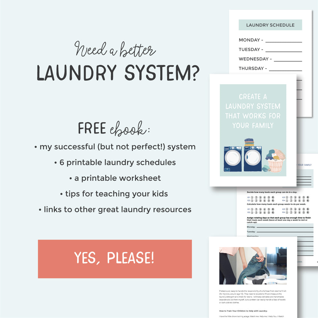 Need a better laundry system? Free ebook and printables! | Pretty Nerdy Press