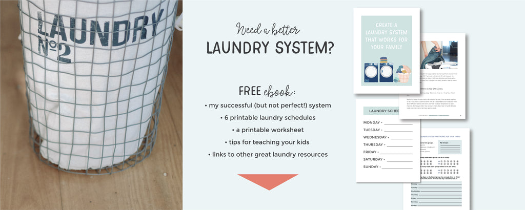 Create a Laundry System that Works for your Family | Pretty Nerdy Press